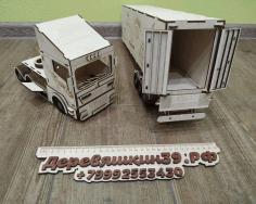 Laser Cut Kids Toy Truck Scania r580 Free CDR Vectors Art