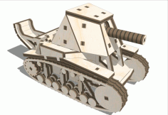 Laser Cut Tank su-18 Wooden 3d Puzzle Free CDR Vectors Art