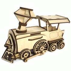 Laser Cut Wooden Locomotive Toy For Kids Free CDR Vectors Art