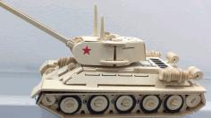 Laser Cut Wooden Tank Toy Free CDR Vectors Art