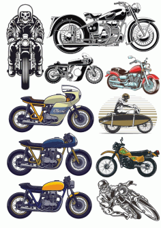 Motobike Set Free CDR Vectors Art