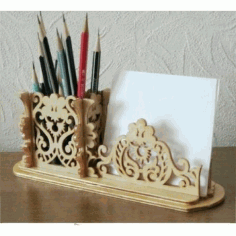 Laser Cut Pencil Holder Pad Organizer Free CDR Vectors Art