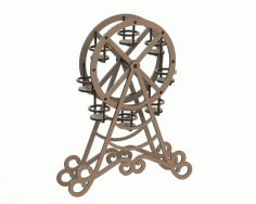 Laser Cut Ferris Wheel Cupcake Display Free CDR Vectors Art