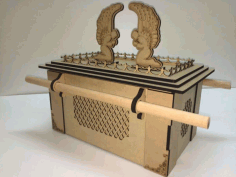 Laser Cut Ark Of The Covenant 3mm Free CDR Vectors Art