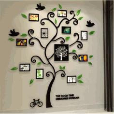 Laser Cut Tree Photo Frame Free DXF File