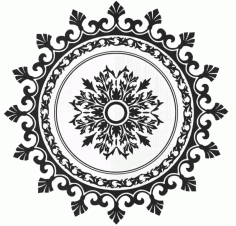 Laser Cut Circular Pattern 8 Free DXF File