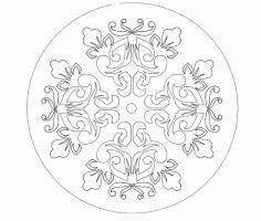 Mandala Ornament Free DXF File
