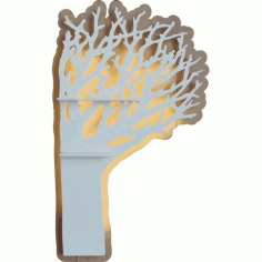 Laser Cut Tree Shaped Shelf Free CDR Vectors Art