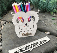 Laser Cut Owl Organizer 2 Layout Free CDR Vectors Art