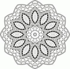 Laser Cut Mandala Design Vector Free CDR Vectors Art