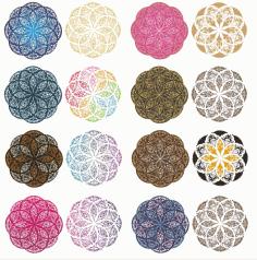 Mandala Color Ornament Free CDR Vectors Art