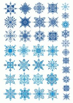 Vectors Snowflakes Free CDR Vectors Art