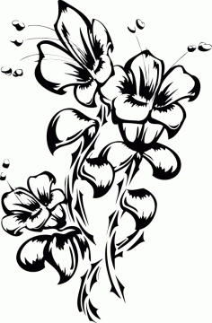 Flowers Tattoo Vector Art Free AI File