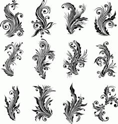 Ai Floral Design Elements Vector Free AI File