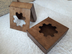 Laser Cut Plywood Box With Gear Free CDR Vectors Art
