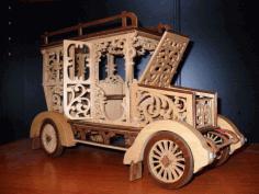 3d Classic Car Puzzle Laser Cut Free PDF File