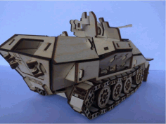 Armored Personnel Carrier Laser Cut Template Free PDF File