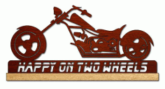 Chopper Motorcycle Scroll Saw Pattern Free PDF File