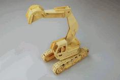Excavator Model Laser Cutting Plans Free PDF File
