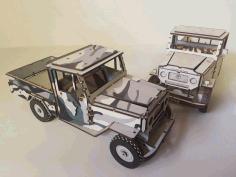 Laser Cut Toyota Land Cruiser Plywood 3mm Free PDF File