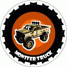 Monster Truck Laser Cut Free PDF File