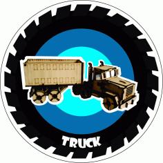 Truck Laser Cut Free PDF File