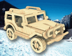 Utility Truck 4 75mm Laser Cut Free PDF File