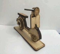 Vespa Scooter Laser Cut Free PDF File