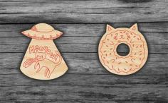 Laser Cut Cats Magnets Icons Free CDR Vectors Art