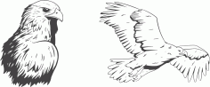 Laser Cut Eagle Vector Drawings Free CDR Vectors Art