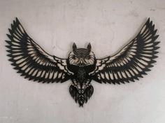 Laser Cut Owl Panel Free CDR Vectors Art