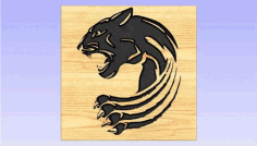 Panther Claw Artcam Free DXF File