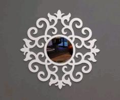 Laser Cut Mirror Art 2 Free DXF File