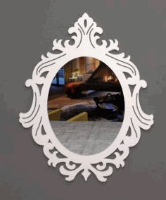 Laser Cut Mirror Art Free DXF File