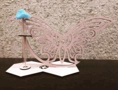 Laser Cut Butterfly Stand Glass Planter Test Tube Vase Glass Flower Pot Free CDR Vectors Art