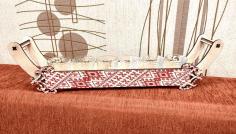 Laser Cut Decorative Wooden 6 Glass Holder Stand Free CDR Vectors Art