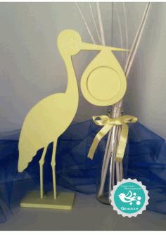 Laser Cut Stork Photo Frame Vector Free CDR Vectors Art