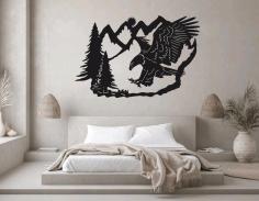 Eagle Metal Wall Art Animal Metal Decoration Free CDR Vectors Art