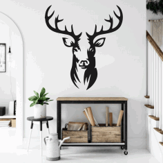 Metal Deer Wall Art Deer Wall Decoration Metal Wall Sign Free CDR Vectors Art