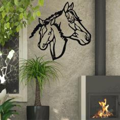 Metal Wall Art Metal Horse Head Art Farmhouse Decor Horse Head Sign Free CDR Vectors Art