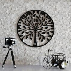 Laser Cut Tree Wall Decoration Free CDR Vectors Art