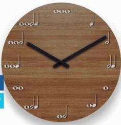 Laser Cut Clock Melody Layout Free CDR Vectors Art