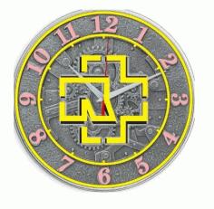 Laser Cutting Clock Design Vectors Free CDR Vectors Art