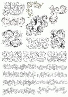 Barocco Style Free CDR Vectors Art