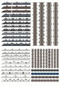 Decorative Border Elements Free CDR Vectors Art