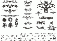 Laser Cut Tribal Design Templates Free CDR Vectors Art