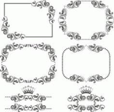 Laser Cut Ornament Border Set Vector Free CDR Vectors Art
