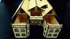 Box House Cnc Laser Cutting Free CDR Vectors Art