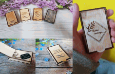 Laser Cut Boxes For Sweet Gift Free CDR Vectors Art