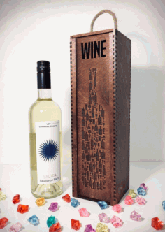Laser Cut The Of Wine Boxes Free CDR Vectors Art